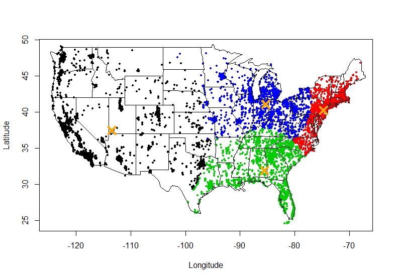 Spatial Clustering With Equal Sizes